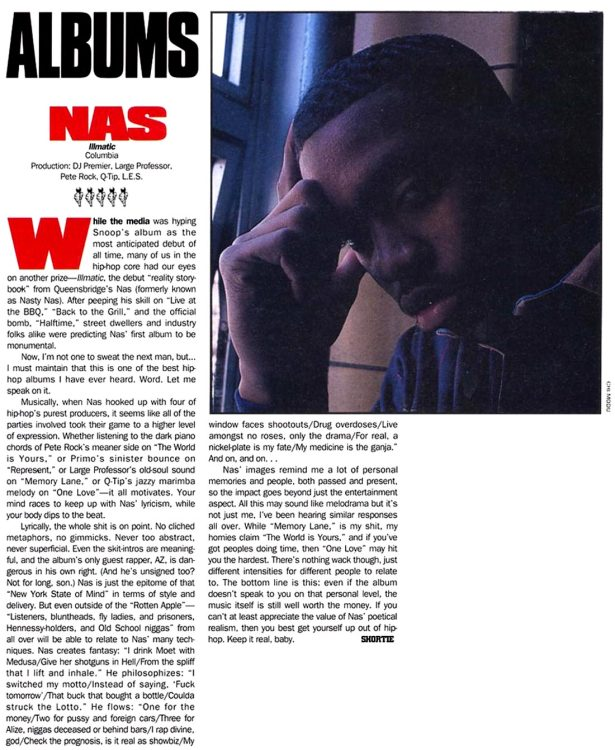 Nas Illmatic Source Magazine 1994